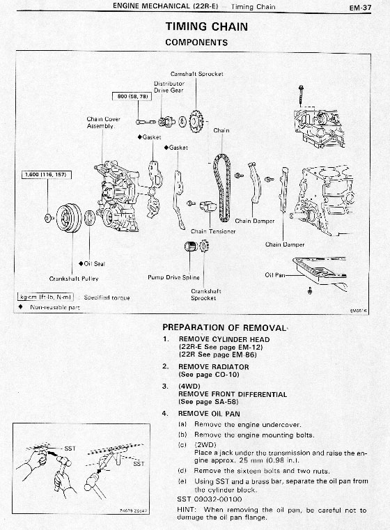 Replace Timing Chain 22R as well Toyota Sel Engine Diagram Of Timing further 93 Toyota 22r Engine Timing Schematic likewise Toyota Pickup 1987 Toyota Pickup No Spark To Sparkplugs together with Watch. on toyota 22r timing marks